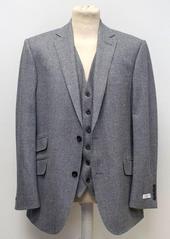 Richard James Grey Checked Three Piece Suit 10