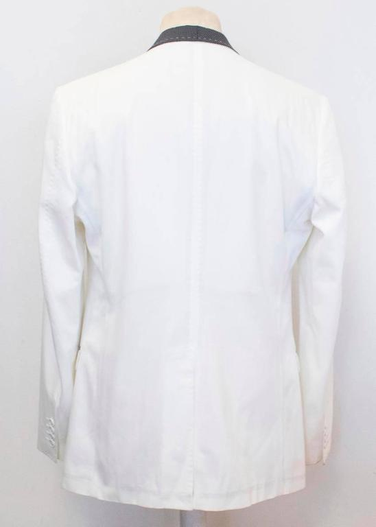 Men's Dolce and Gabbana White Dinner Jacket with a Bow Tie For Sale