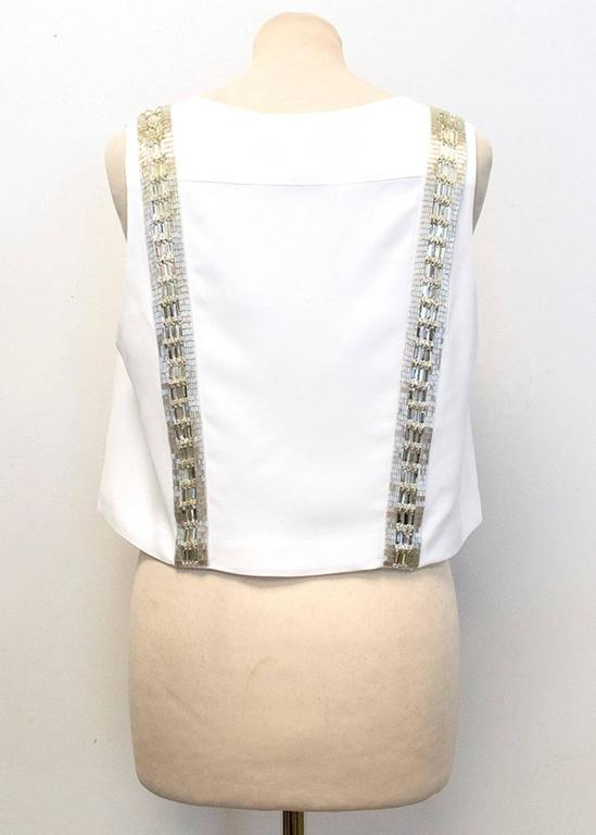 Chloe White Beaded Arrow Top For Sale 2