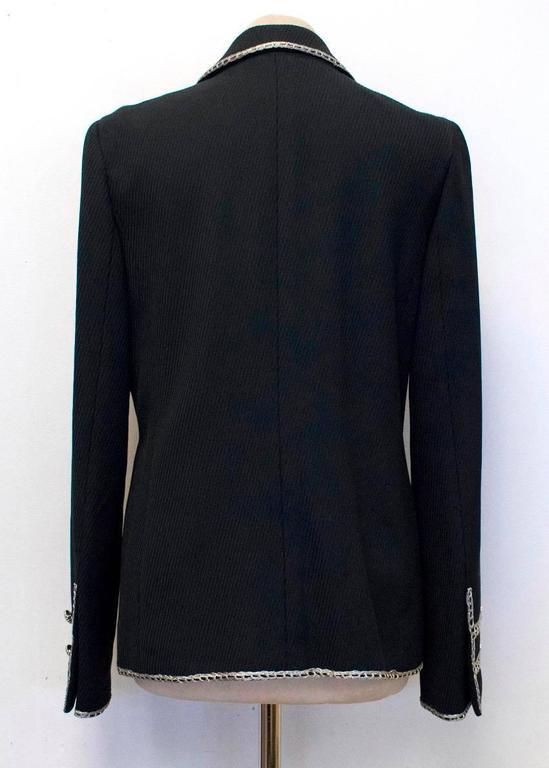 Chanel Black Military Blazer 4