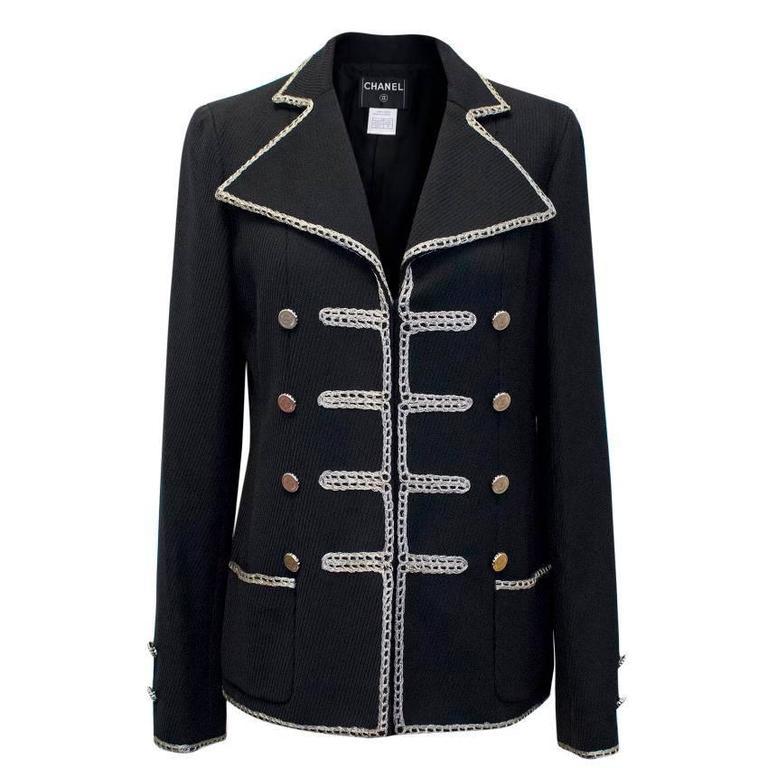 Chanel Black Military Blazer 1