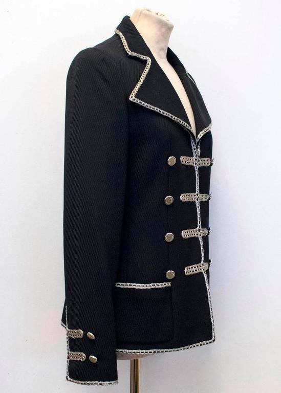 Chanel Black Military Blazer 3