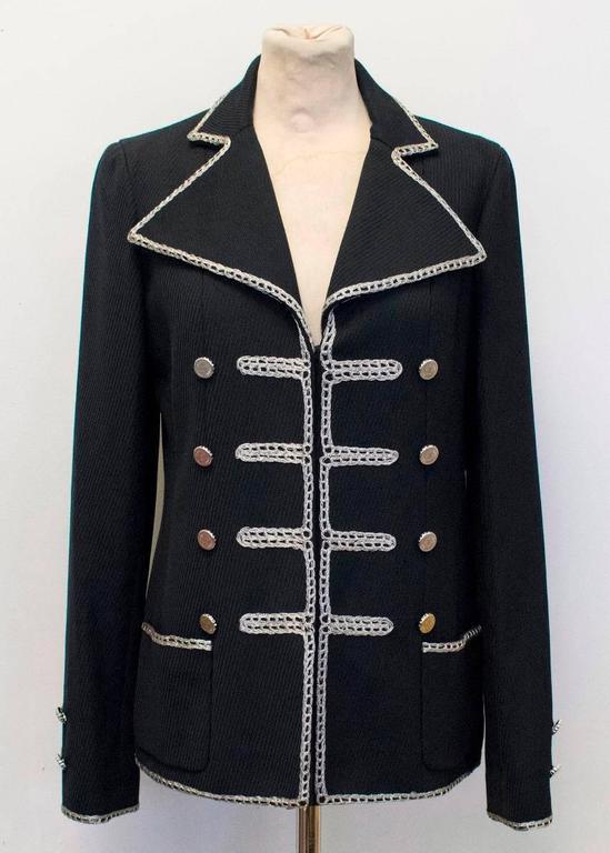 Chanel Black Military Blazer 2
