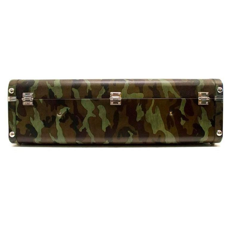 Prada Green Camouflage Print Suitcase For Sale at 1stdibs