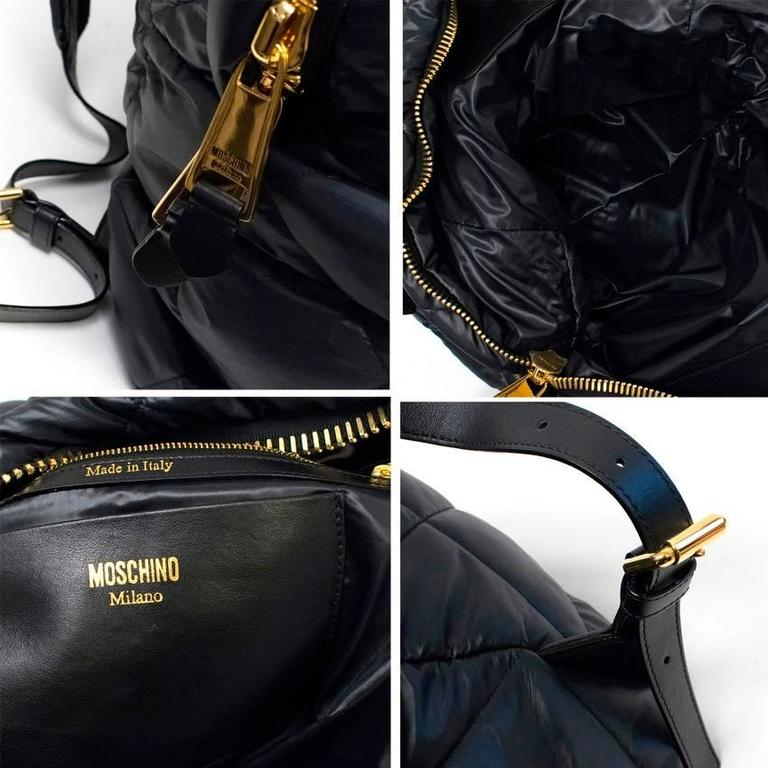 Moschino Black Oversized Quilted Backpack 2