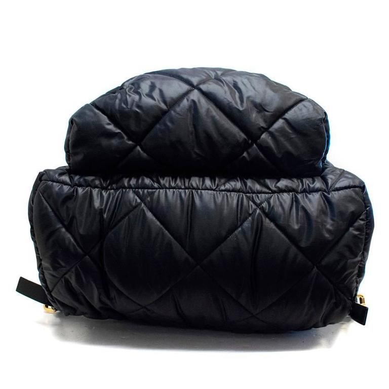 Moschino Black Oversized Quilted Backpack 3