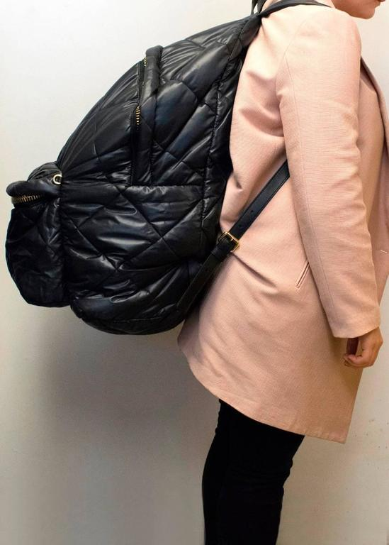 Moschino Black Oversized Quilted Backpack 6