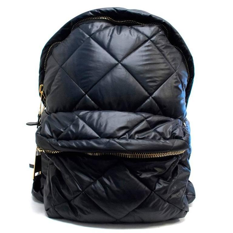 Moschino Black Oversized Quilted Backpack 7