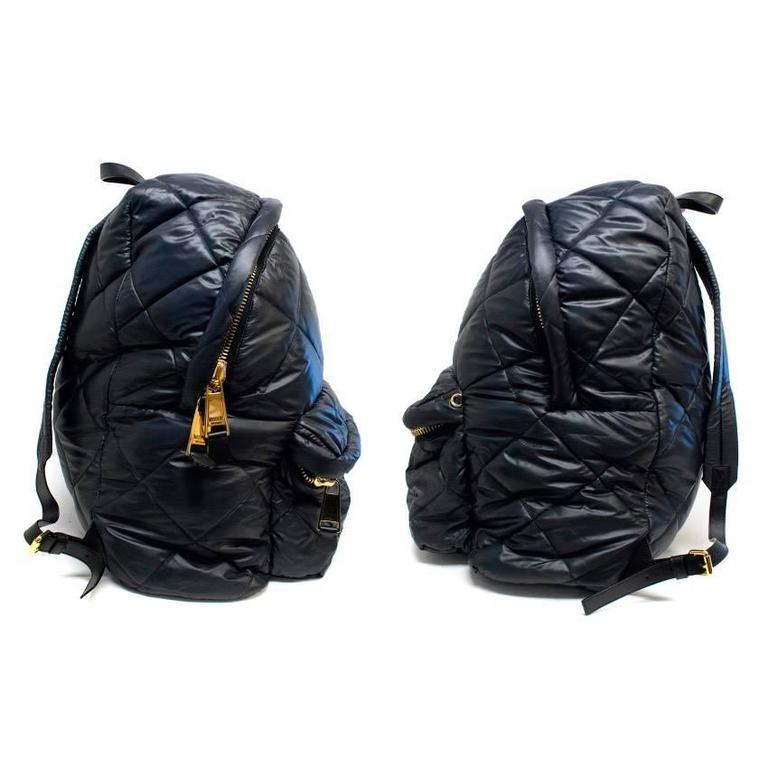 Moschino Black Oversized Quilted Backpack 9