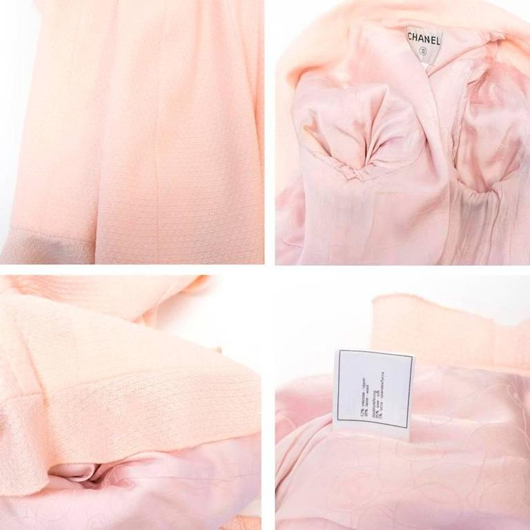 Chanel Nude Pink Jacket/Short Coat with Ruffled Cuffs and Hem  2