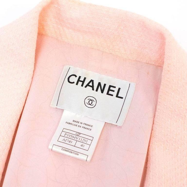 Chanel Nude Pink Jacket/Short Coat with Ruffled Cuffs and Hem  4
