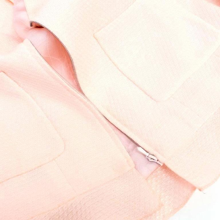 Chanel Nude Pink Jacket/Short Coat with Ruffled Cuffs and Hem  7