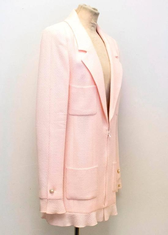 Chanel Nude Pink Jacket/Short Coat with Ruffled Cuffs and Hem  8