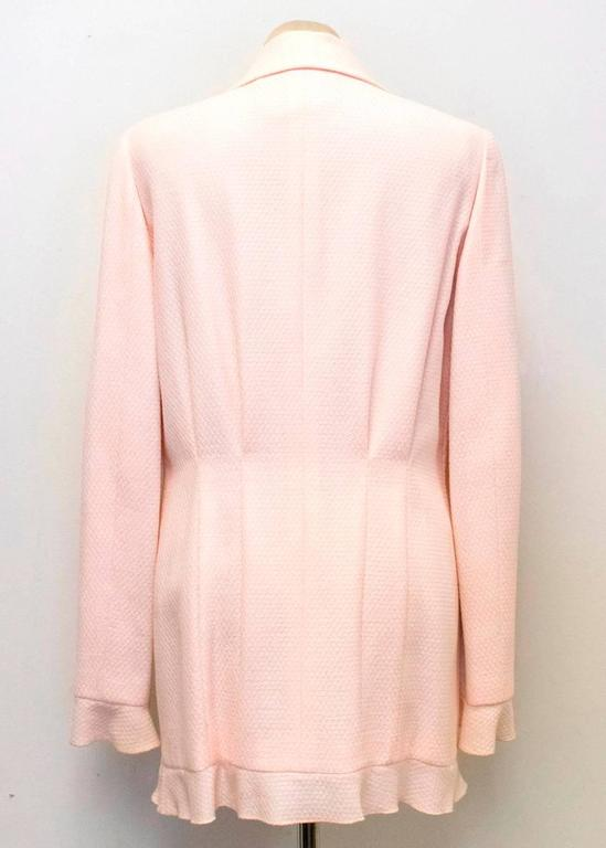 Chanel Nude Pink Jacket/Short Coat with Ruffled Cuffs and Hem  9