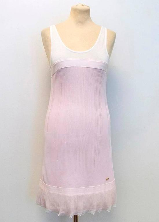 Chanel Pink and White Sleeveless Dress 6