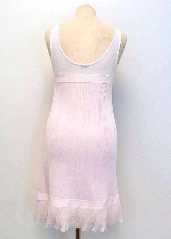 Chanel Pink and White Sleeveless Dress 7