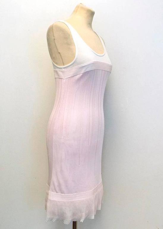 Chanel Pink and White Sleeveless Dress 8
