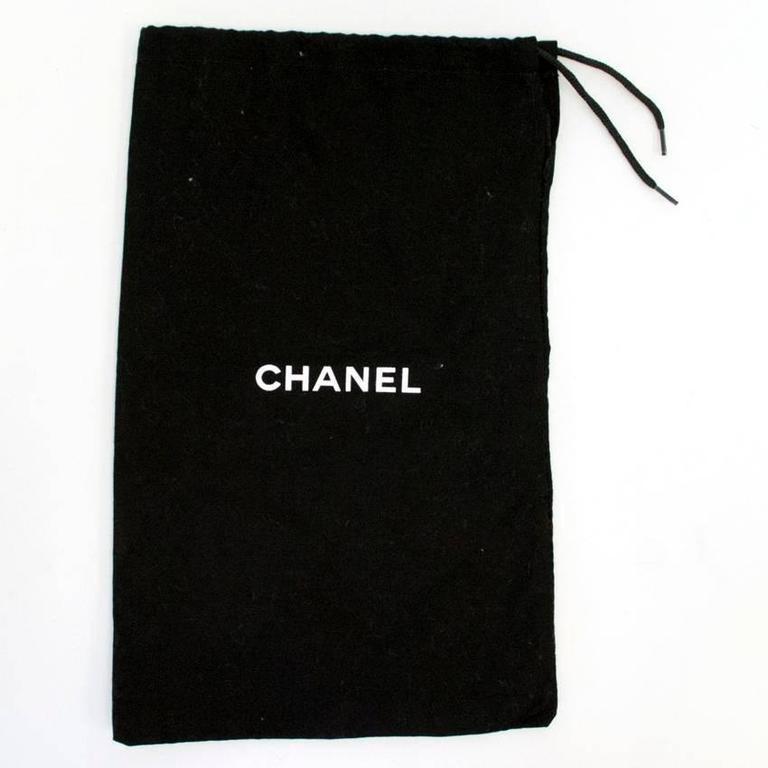 Chanel Black with Gold CC Logo 'Escarpin' Platform Heels 8