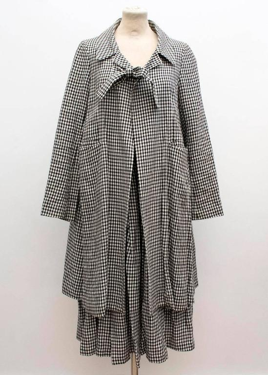 Comme des Garçons Check Skirt and Coat 3