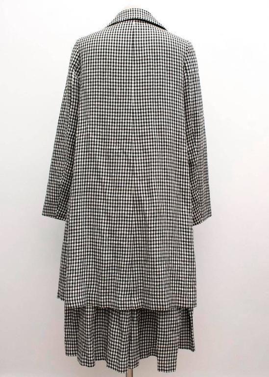 Comme des Garçons Check Skirt and Coat 4