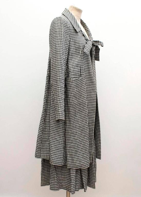 Comme des Garçons Check Skirt and Coat 5