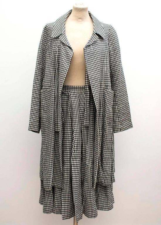 Comme des Garçons Check Skirt and Coat 6