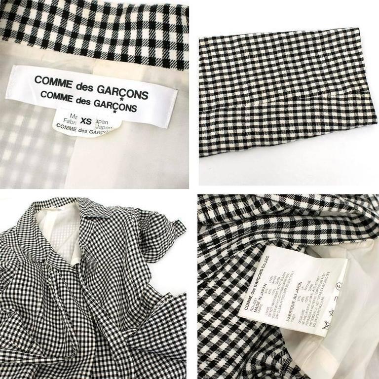Comme des Garçons Check Skirt and Coat 7