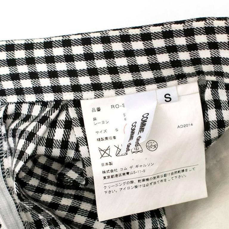 Comme des Garçons Check Skirt and Coat 8