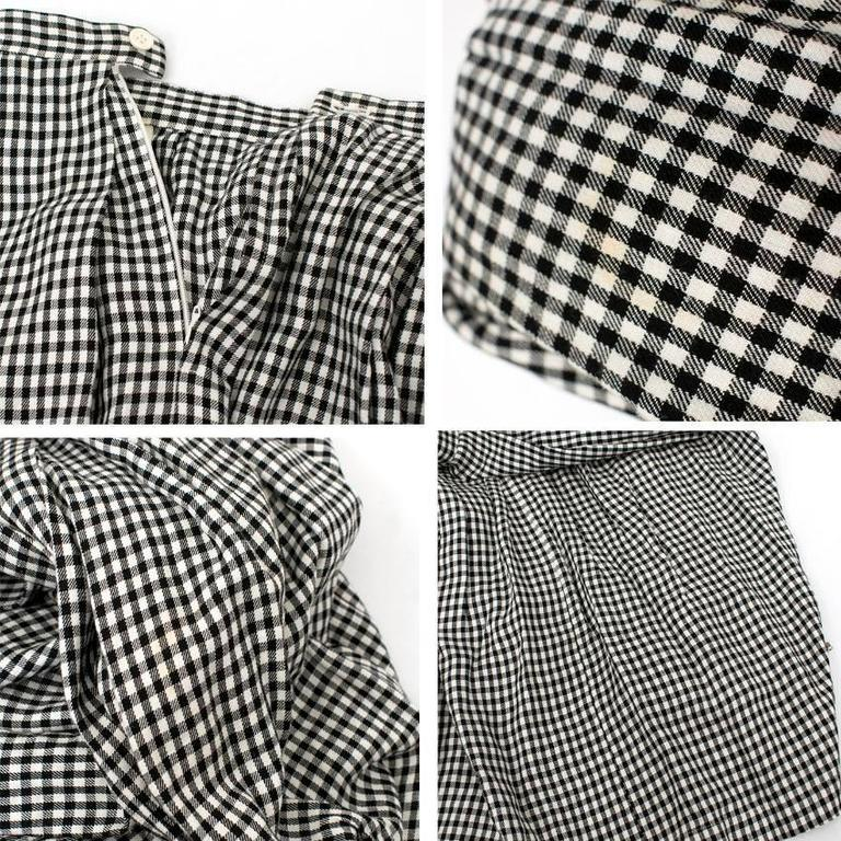 Comme des Garçons Check Skirt and Coat 9