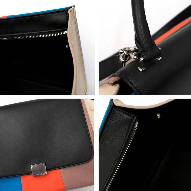 Celine Multicolor Felt Trapeze Bag 10