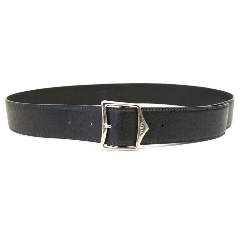 Women's Tod's Black Leather Belt For Sale