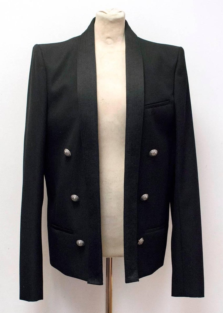 Balmain Black Blazer Jacket For Sale 1