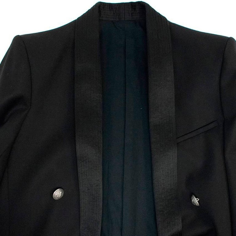 Balmain Black Blazer Jacket For Sale 2
