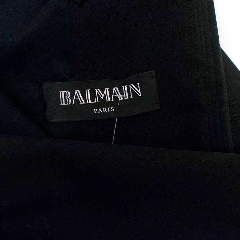 Balmain Black Blazer Jacket For Sale 4