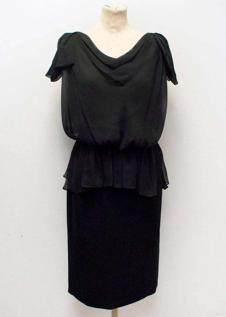 Vionnet Black midi length sleeveless dress with an open back and ruffles.  Made in Italy.   Condition 10/10  Fabric: 100% silk  Approx Measurements: Dress Length: 101cm, Waist:35cm, Bust:43cm, Hips: 47cm  UK Size: S, Italian size: 42 US Size: S,