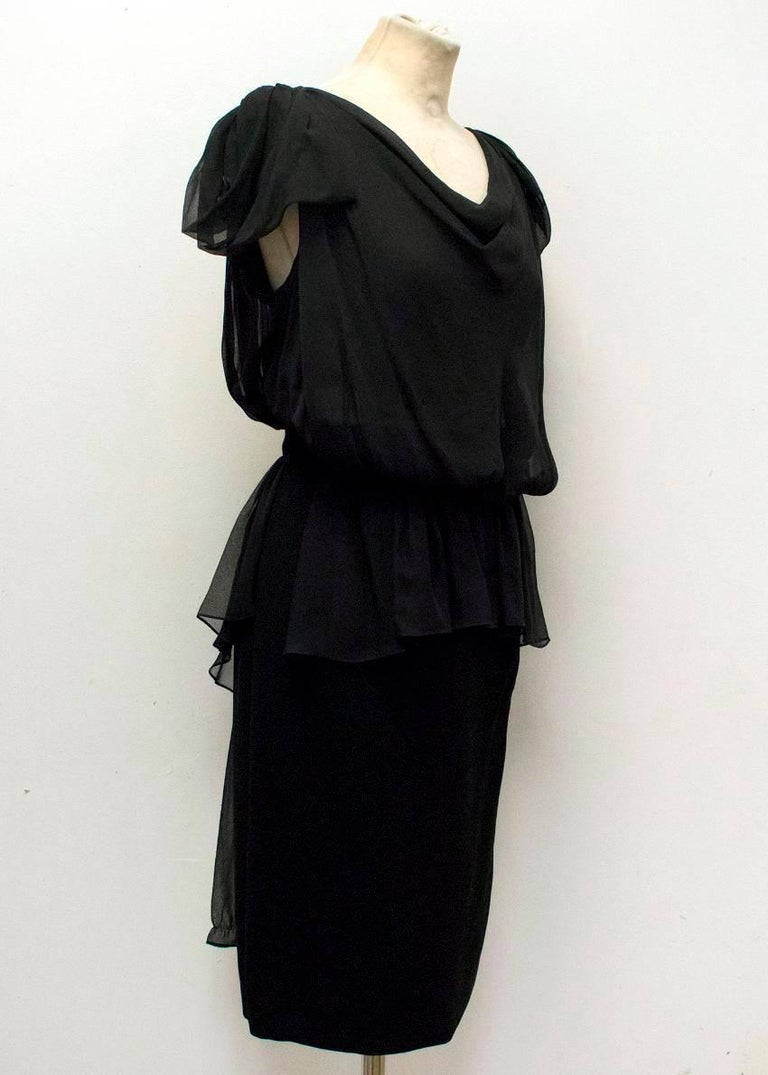 Vionnet Black Dress  In New Never_worn Condition For Sale In London, GB