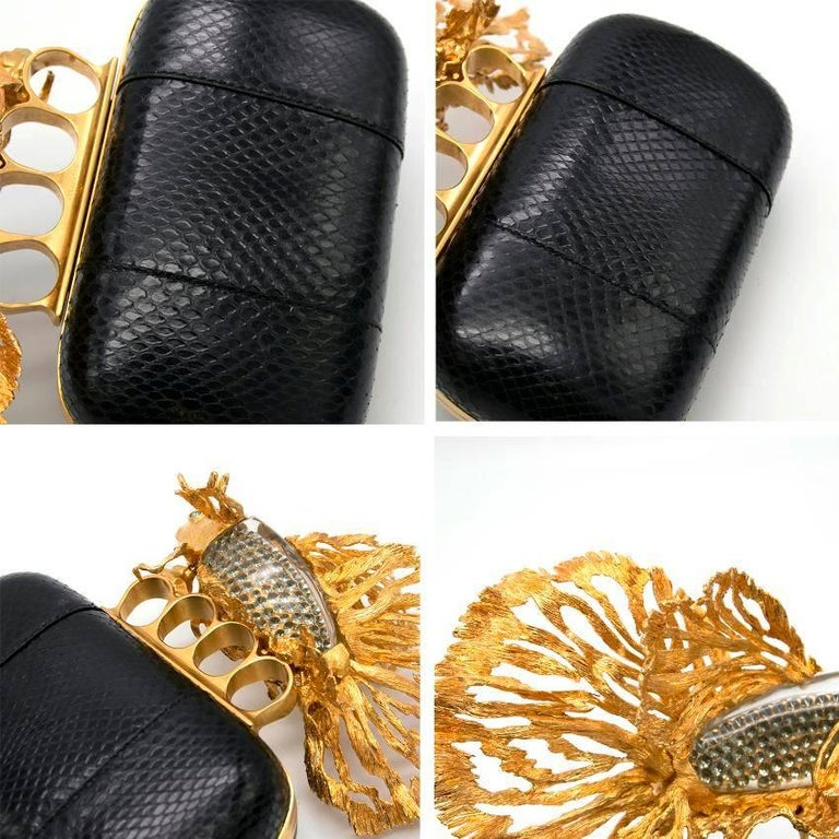 Alexander McQueen Tropical Fish Clutch  In Excellent Condition For Sale In London, GB