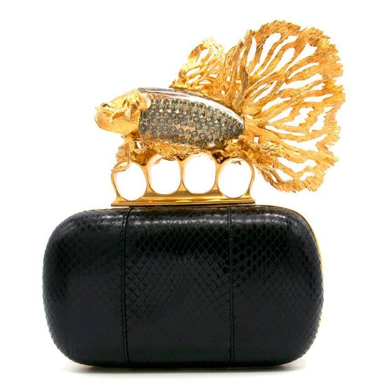 Women's Alexander McQueen Tropical Fish Clutch  For Sale