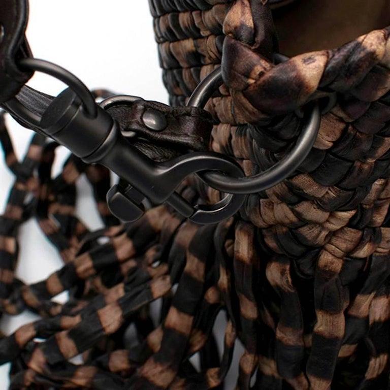 Bottega Veneta Brown Leather Fringe Bag  4