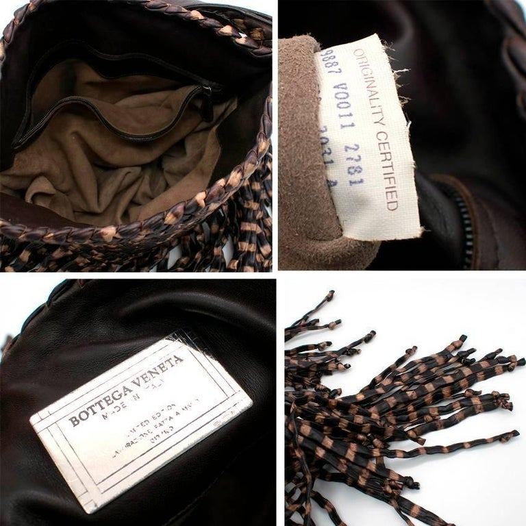 Bottega Veneta Brown Leather Fringe Bag  5