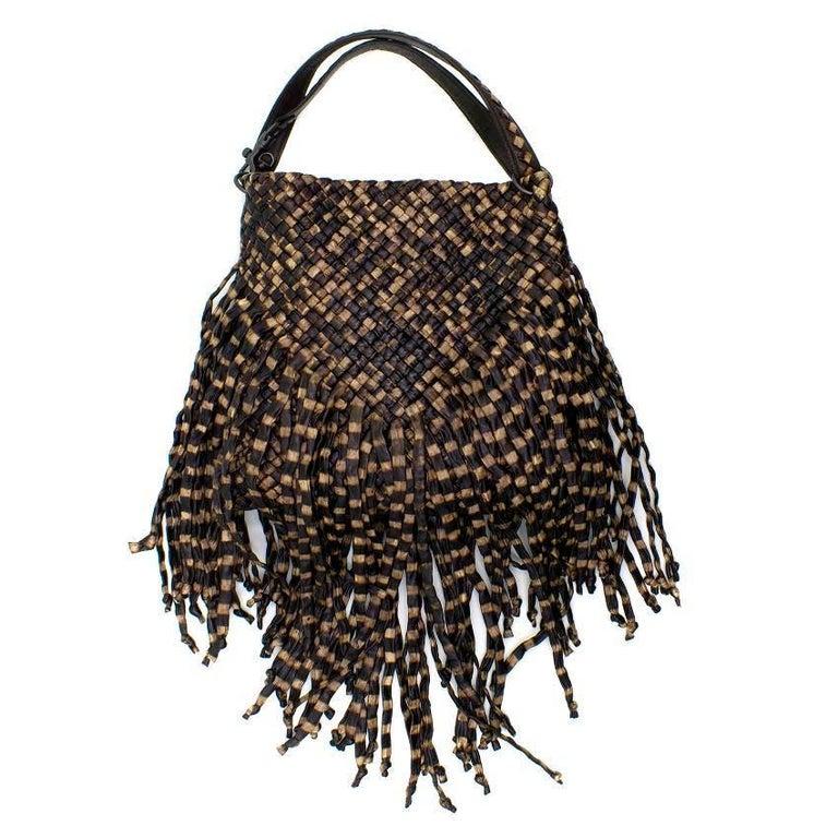 Bottega Veneta Brown Leather Fringe Bag  8