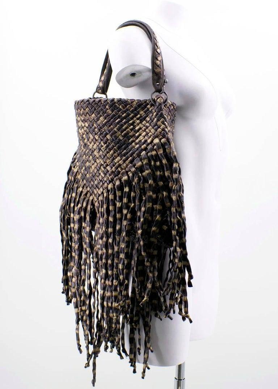 Bottega Veneta Brown Leather Fringe Bag  10