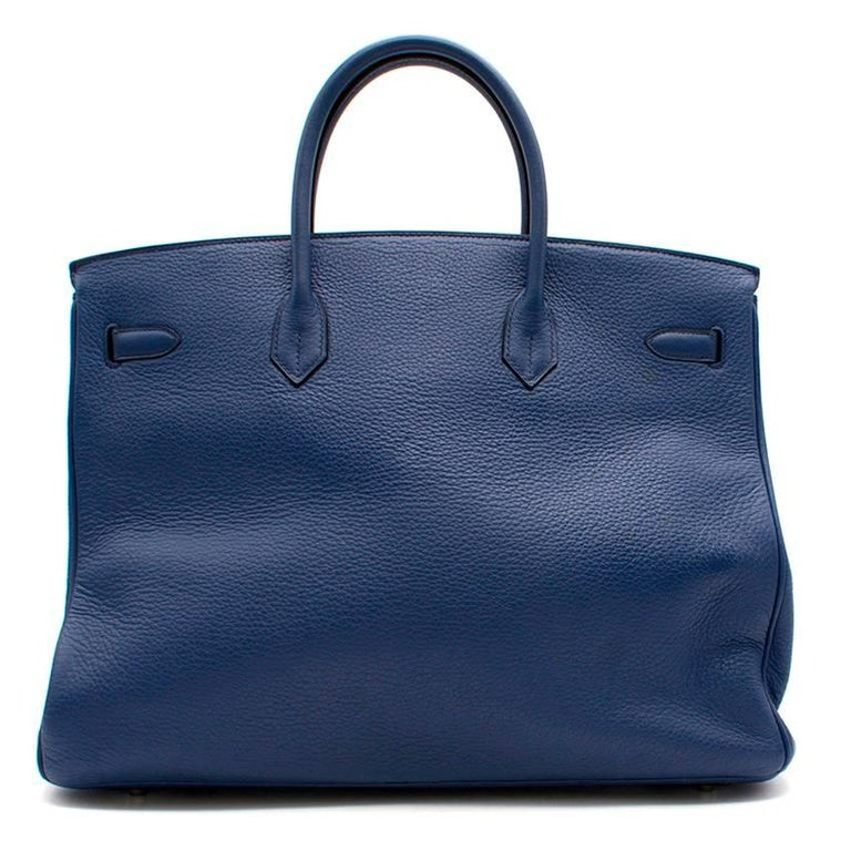 Hermes Blue De Prusse Togo Leather Birkin 40cm For Sale 4
