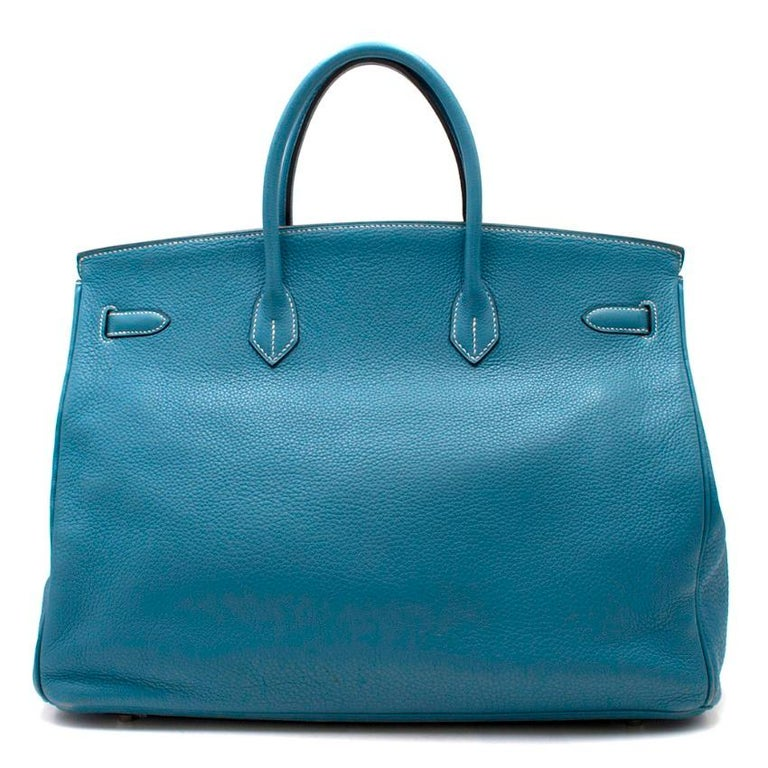 035e351898b7 Hermes Blue Jean Clemence Leather 40cm Birkin Bag - Age (Circa) - L in