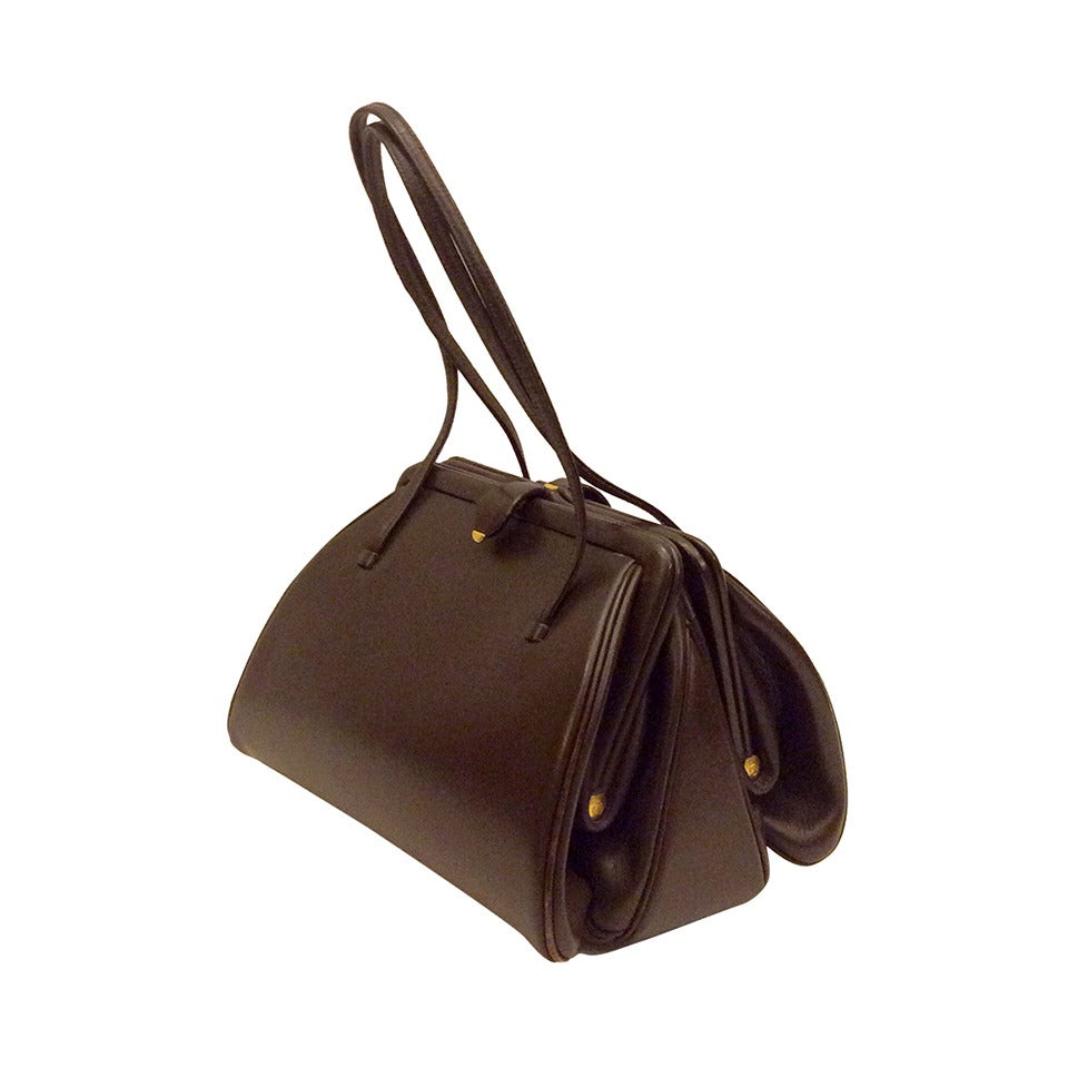 Vintage Judith Leiber Chocolate A Brown Double Side