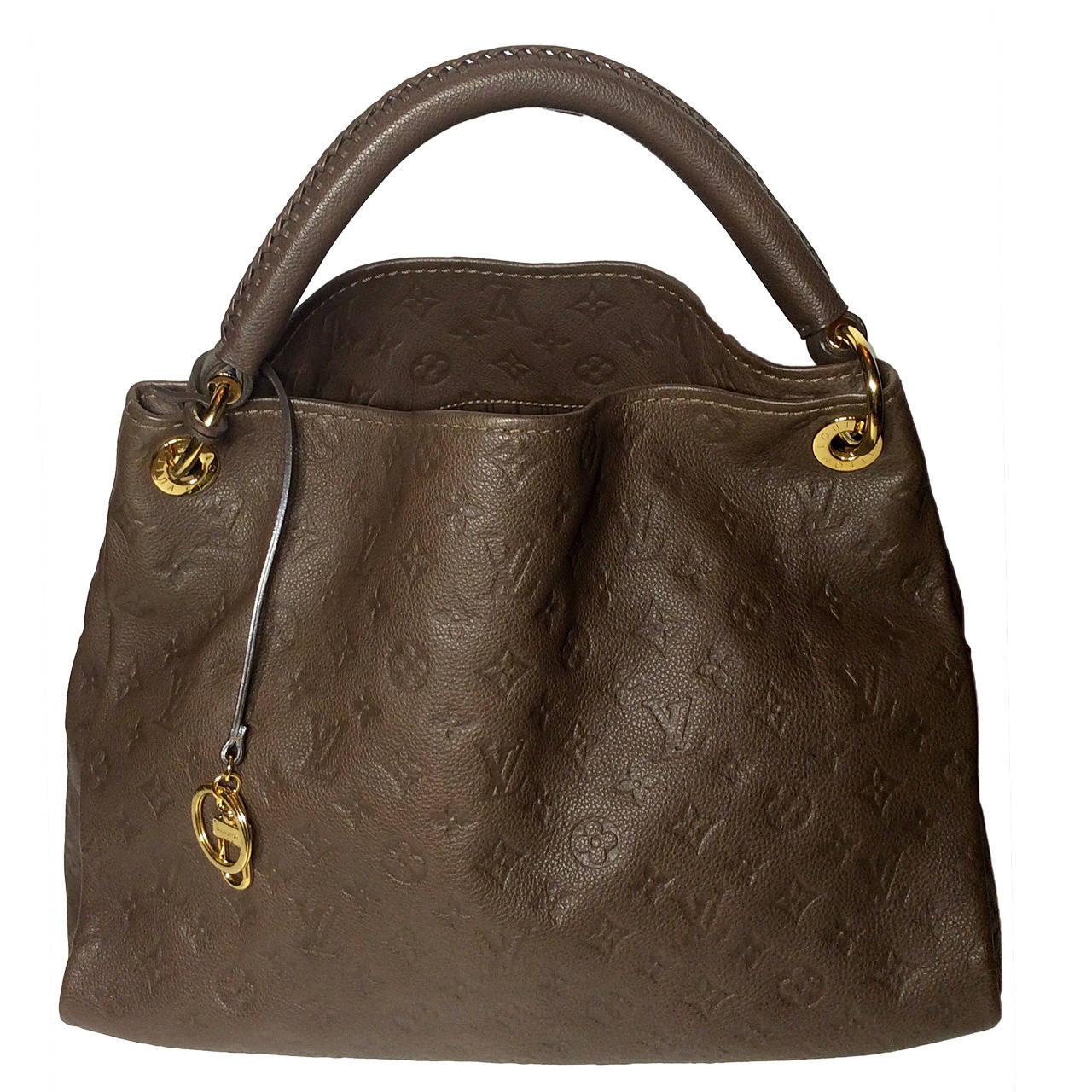 Louis Vuitton Monogram Empreinte Taupe Artsy Hobo Handbag