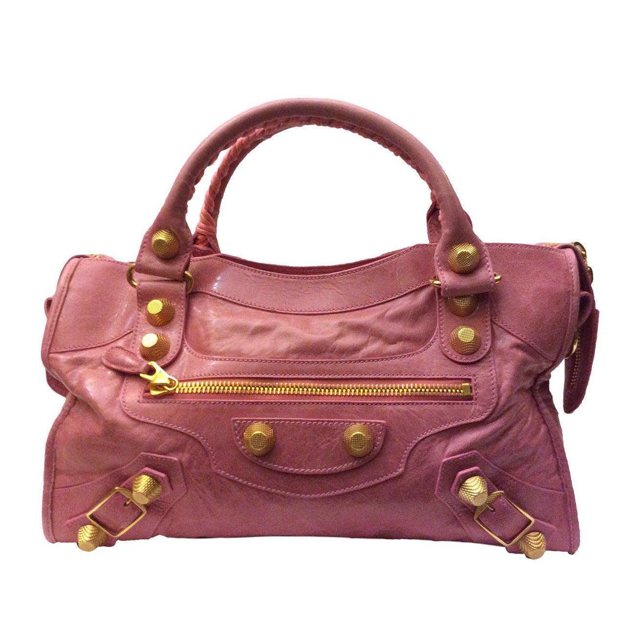 Balenciaga Rose Gold City.Balenciaga Gris Tarmac Lambskin Leather ... 5529c4cde927a