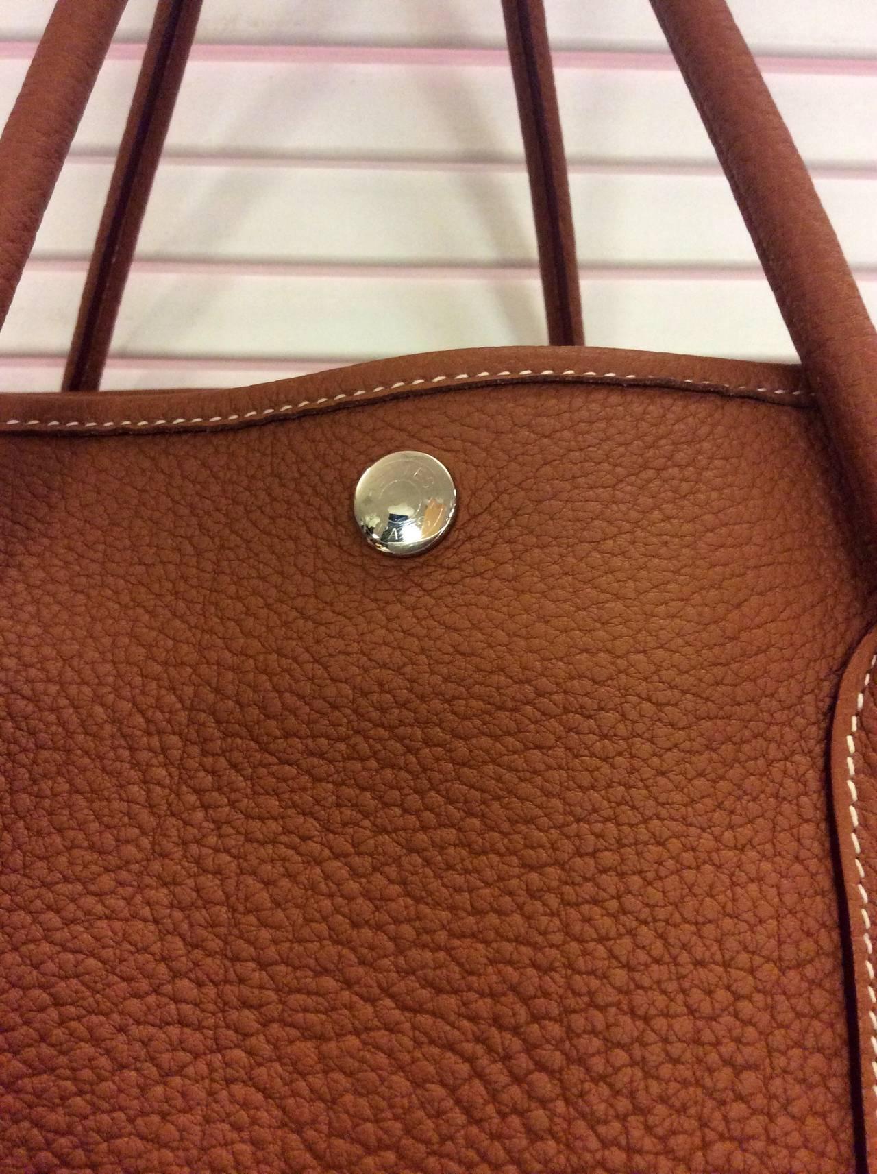 sac birkin hermes imitation - Hermes 2014 Garden Party MM 36cm Negonda Gold Leather Tote at 1stdibs
