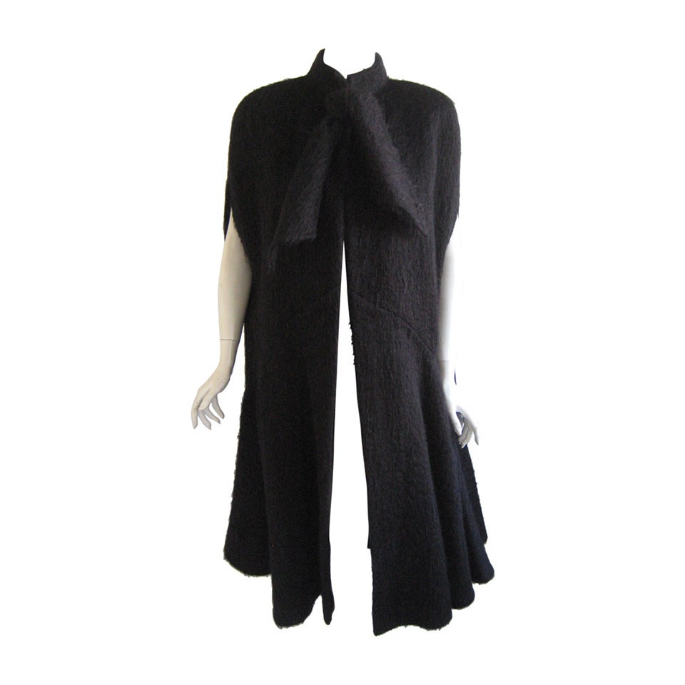 Pauline Trigere Mohair Cape at 1stdibs