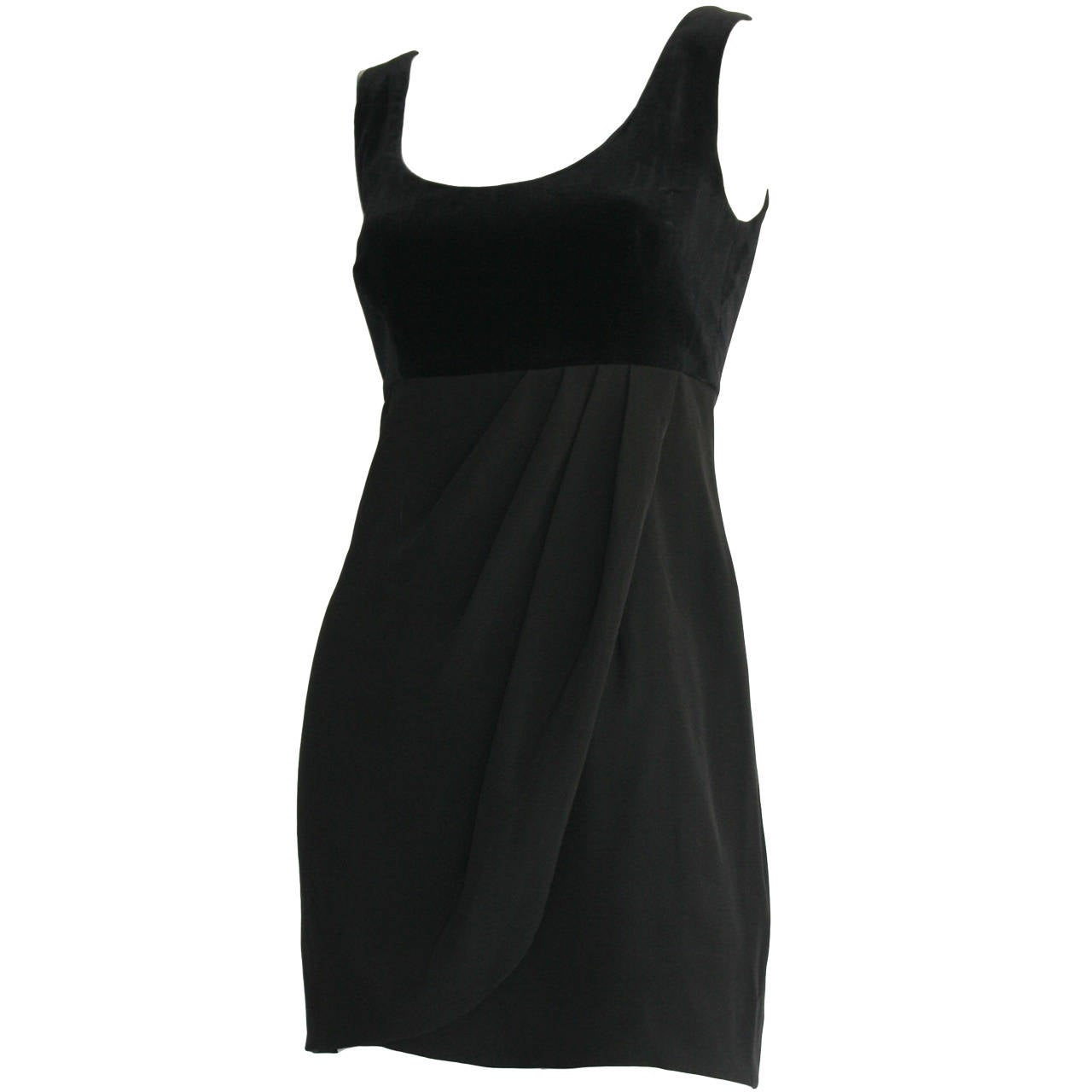 Vintage Guy Laroche Perfect Little Black Dress LBD For Sale at 1stdibs